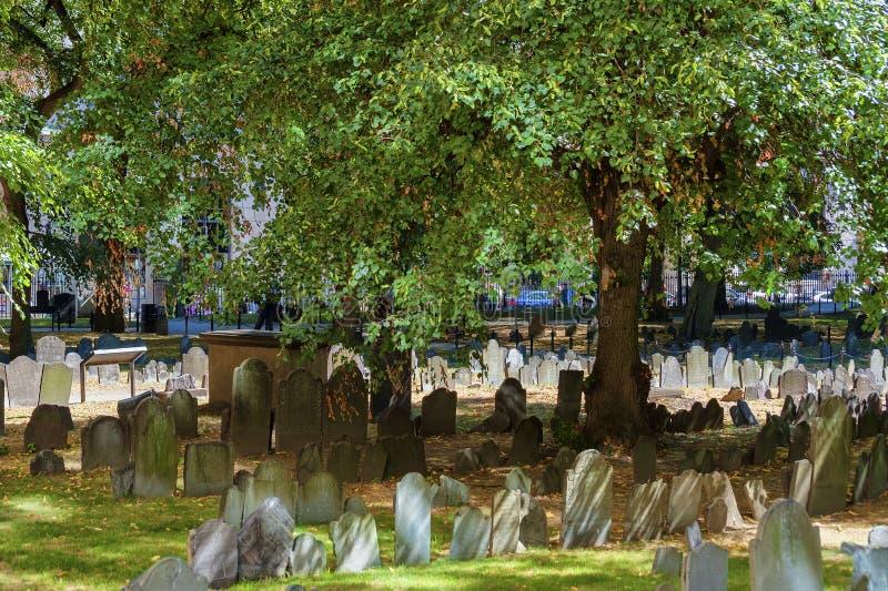 Terra de enterro do celeiro de Boston Massachusetts imagem de stock