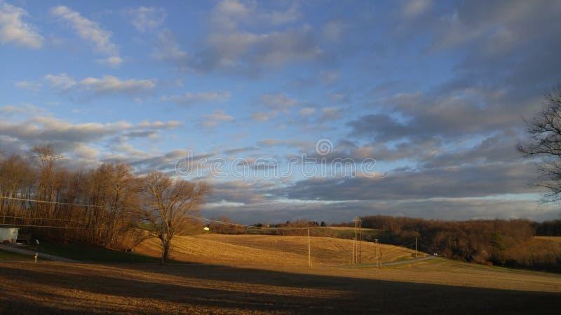 Terra de exploração agrícola em Pensilvânia fotografia de stock