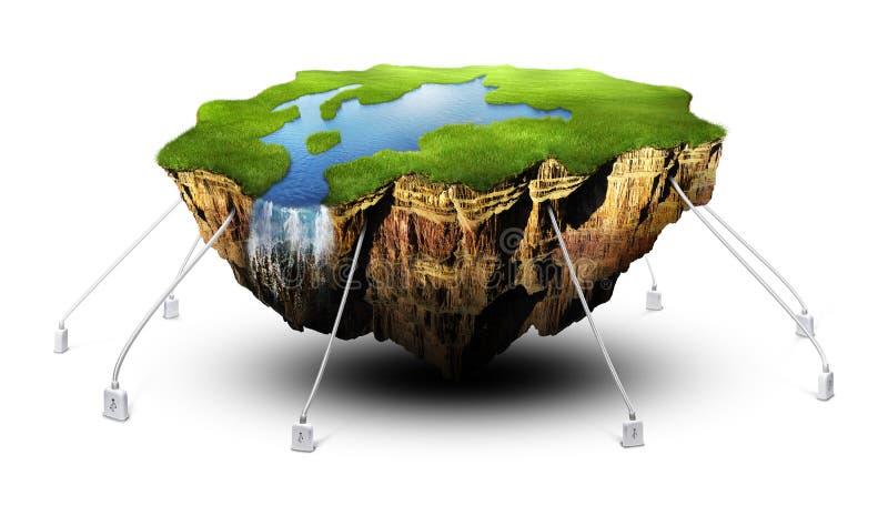 Terra de flutuação ilustração royalty free