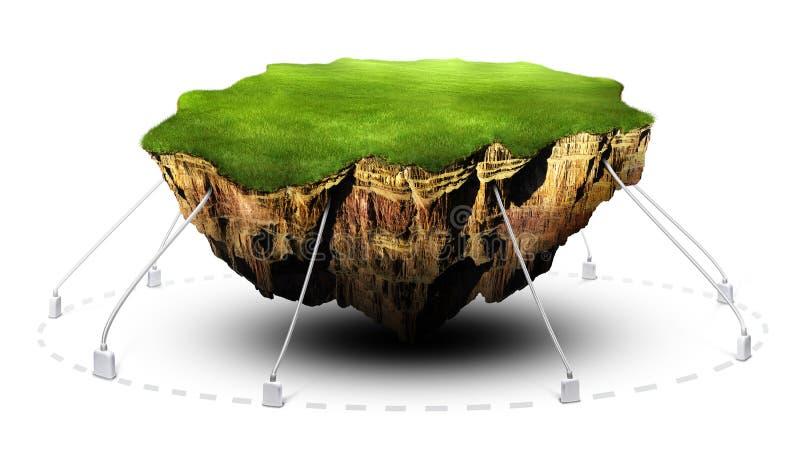 Terra de flutuação ilustração do vetor