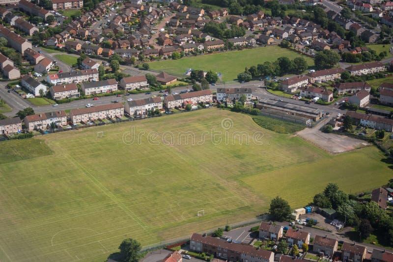 Terra de futebol em grande Britan fotografia de stock