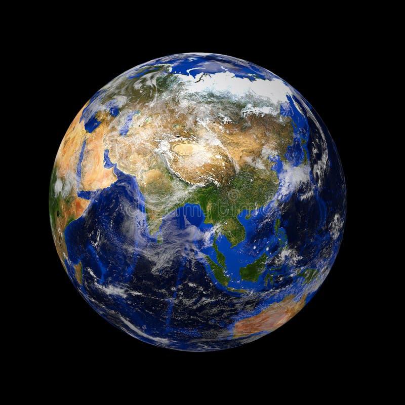 Terra de mármore azul do planeta fotografia de stock royalty free