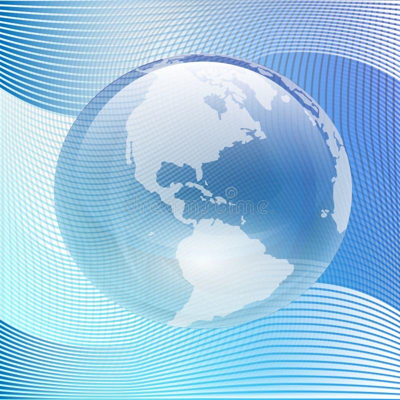 Terra de vidro azul ilustração stock