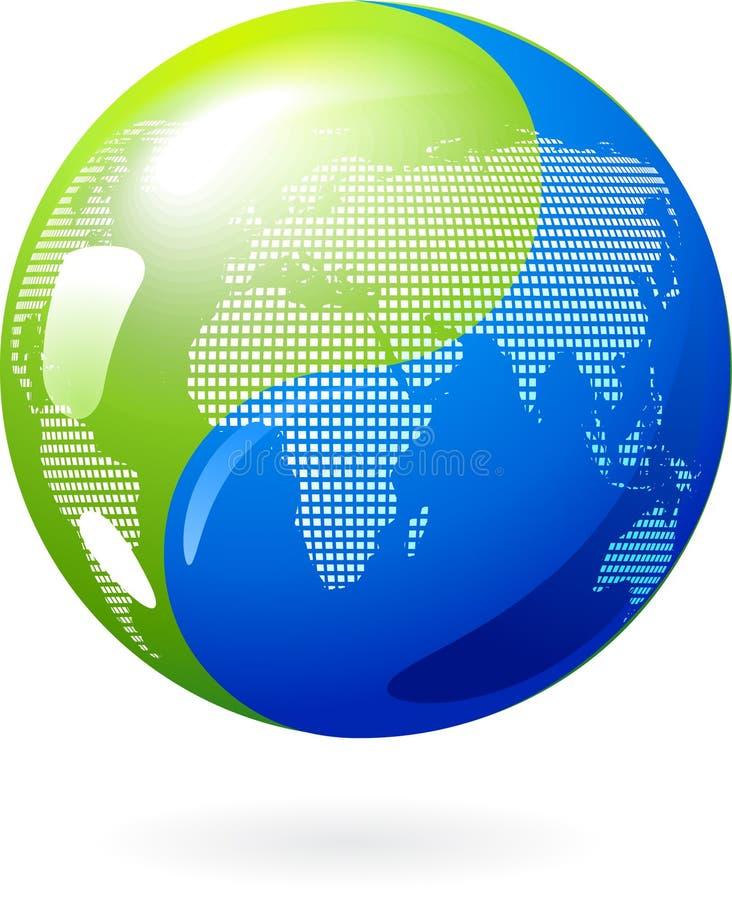 Terra de Yin Yang - - conceito da energia do eco ilustração royalty free
