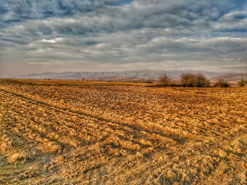 Terra degli agricoltori fotografia stock
