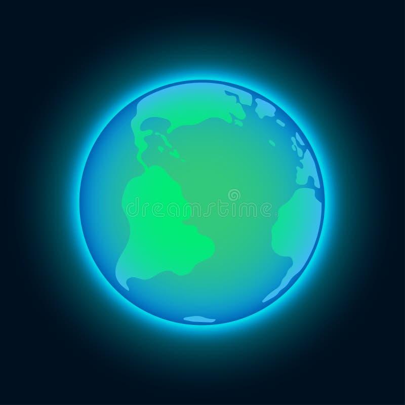 Terra del blu di vettore royalty illustrazione gratis