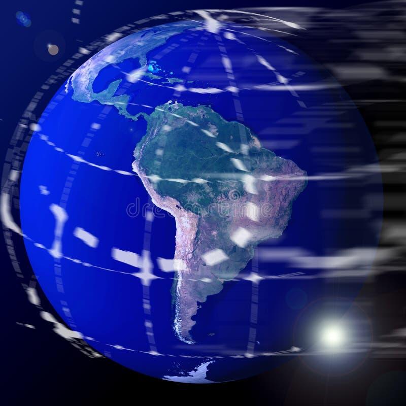 Terra del globo del mondo illustrazione vettoriale