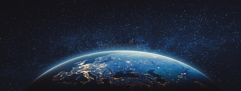 Terra del pianeta - Europa Elementi di questa immagine ammobiliati dalla NASA royalty illustrazione gratis
