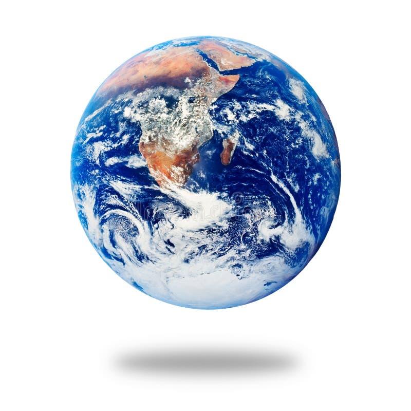 Terra del pianeta isolata su bianco immagine stock