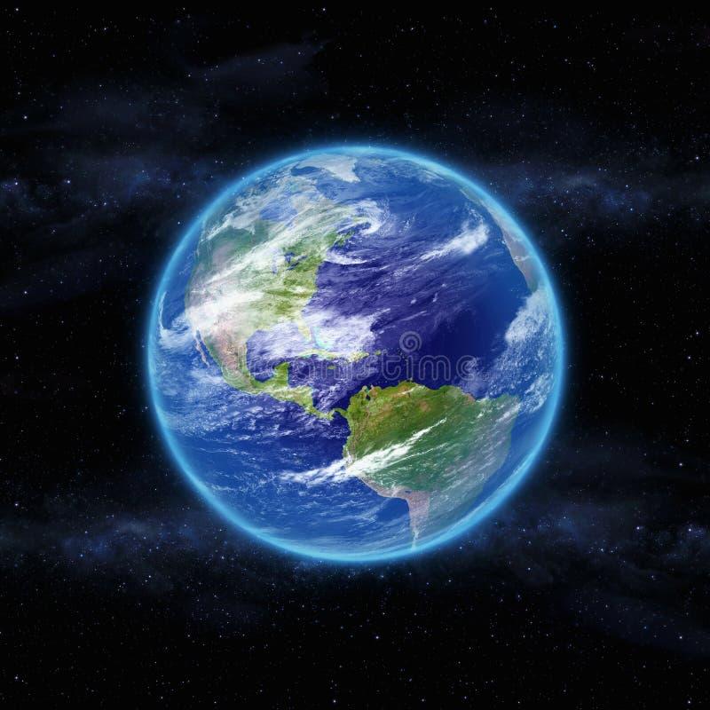 Terra del pianeta nello spazio illustrazione vettoriale