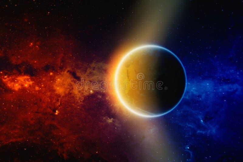 Terra del pianeta nello spazio immagine stock