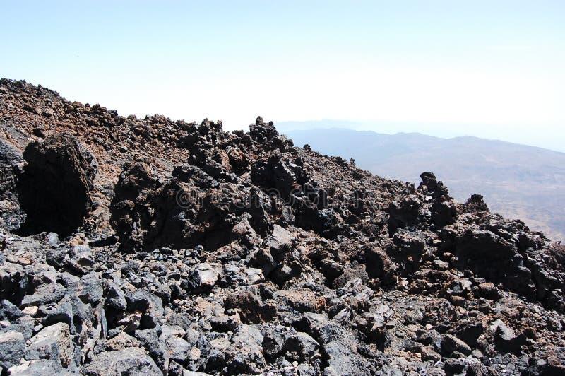 Terra del vulcano immagini stock