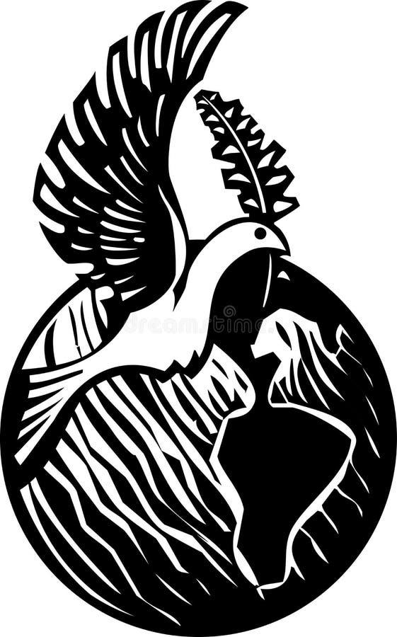 Terra della colomba royalty illustrazione gratis