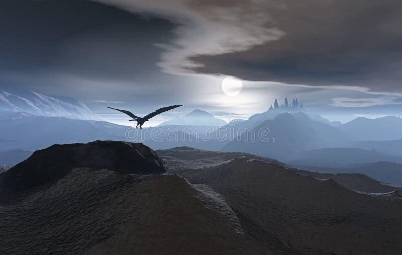 Terra della luna in aumento fotografia stock