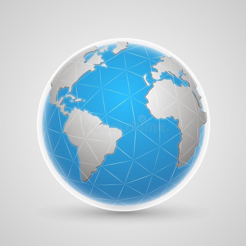 Terra della rete del pianeta royalty illustrazione gratis
