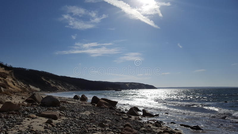 Terra della roccia della spiaggia fotografia stock