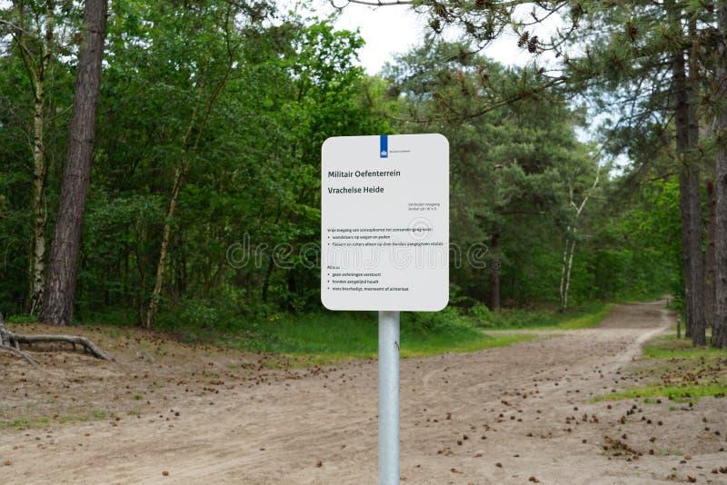 Terra di addestramento militare nei Paesi Bassi fotografia stock