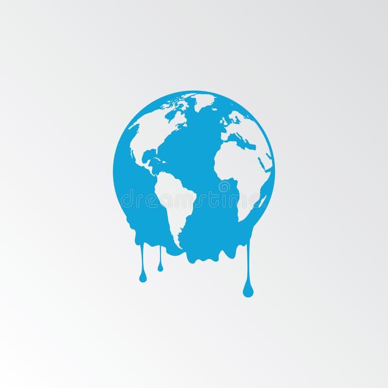 Download Terra Di Fusione - Riscaldamento Globale Illustrazione Vettoriale - Illustrazione di cambiamento, emissioni: 56879832