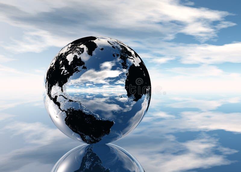 Terra di Pixelized illustrazione vettoriale