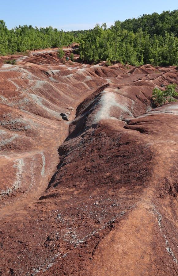 Terra di rosso dei calanchi di Cheltenham immagini stock