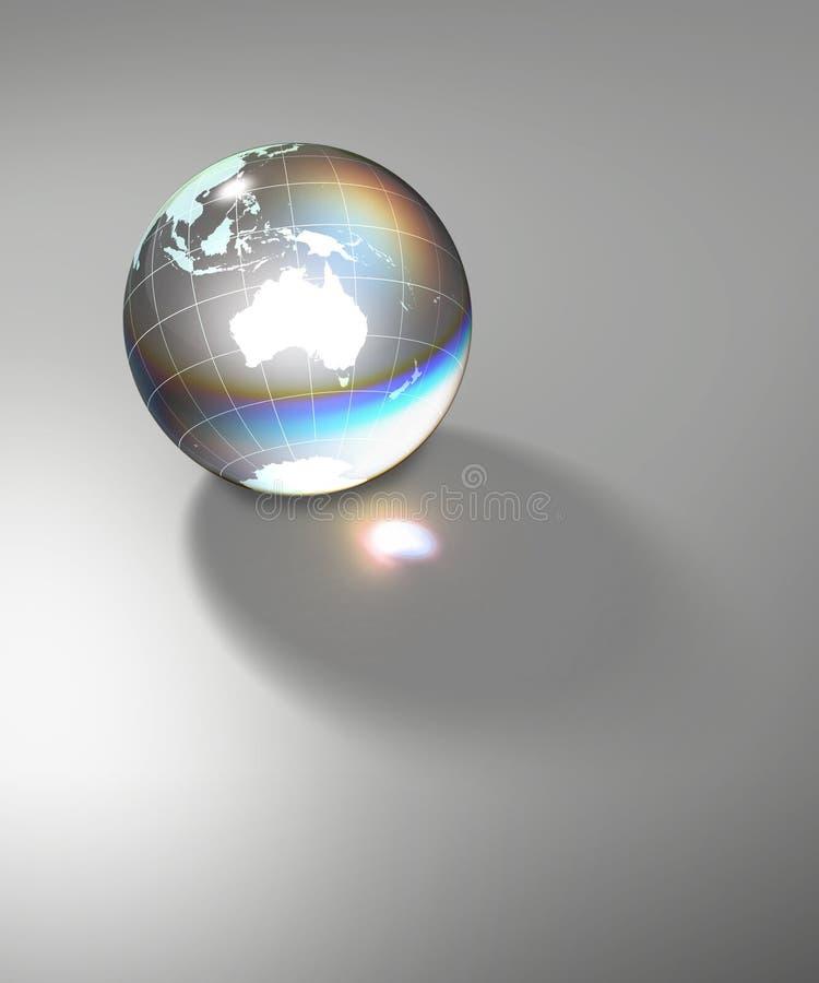 Terra di vetro trasparente del globo illustrazione di stock