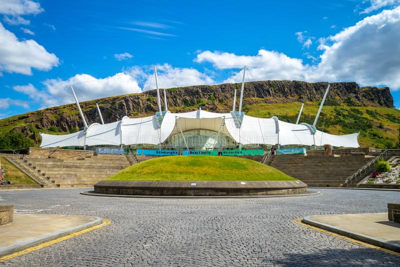 Terra dinâmica, uma atração do visitante em Edimburgo foto de stock royalty free