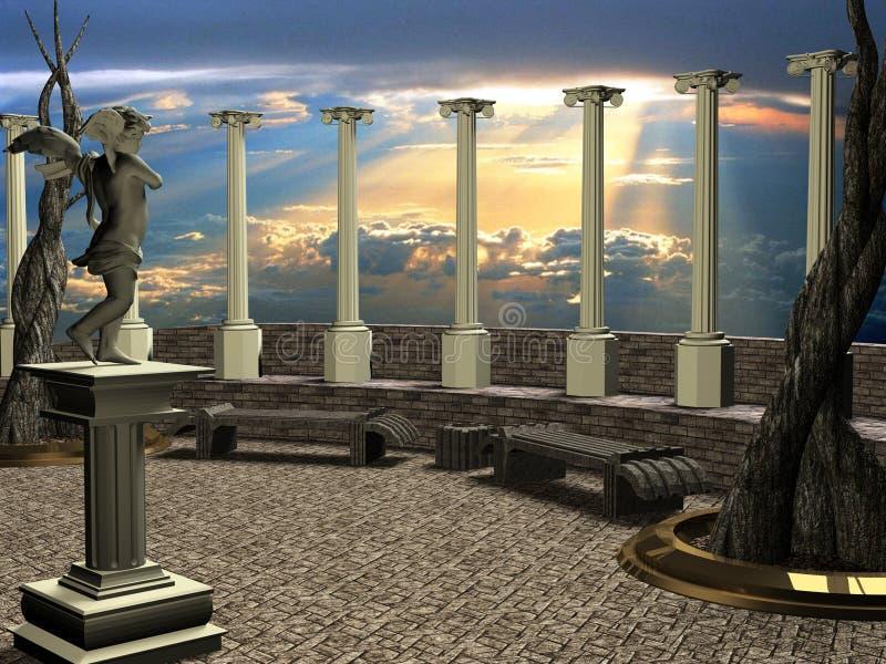Terra do céu ilustração royalty free