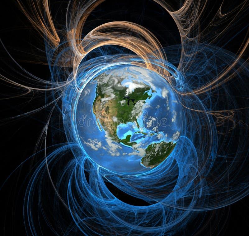 Terra do eclipse da aura da energia ocidental ilustração stock