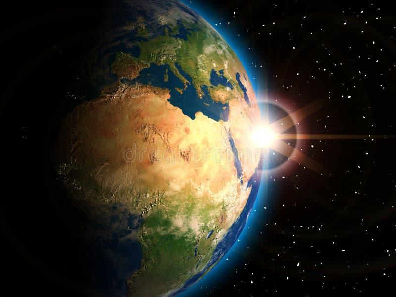 Terra do espaço ilustração do vetor