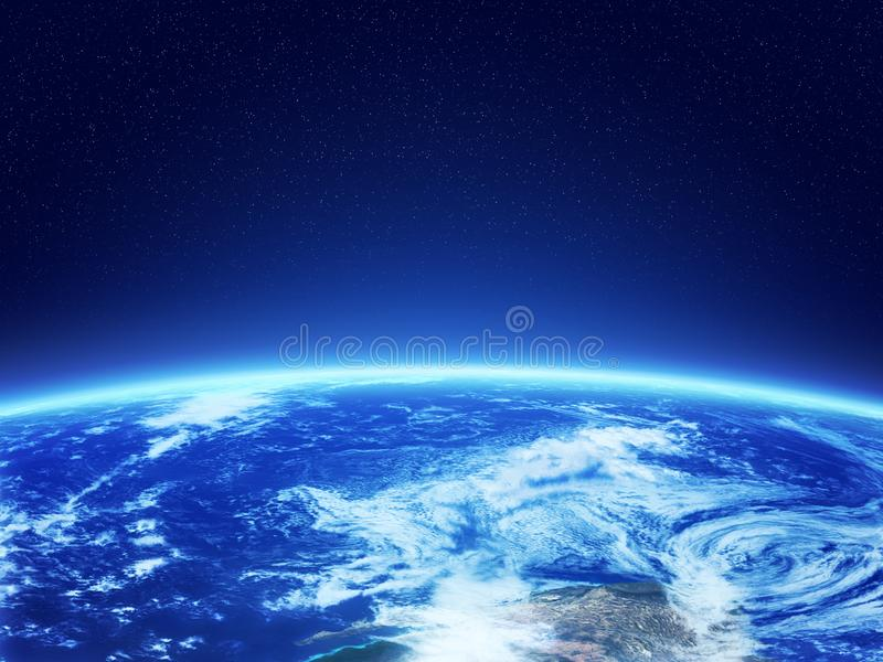 Terra do espaço ilustração stock