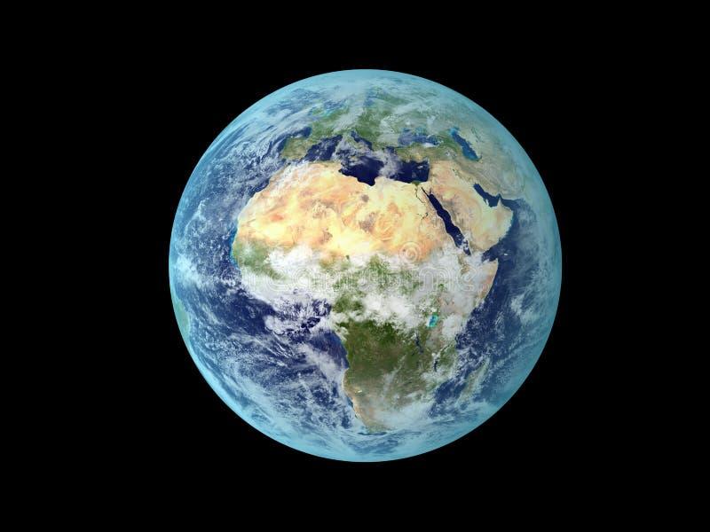 Download Terra do espaço ilustração stock. Ilustração de europa - 16866310