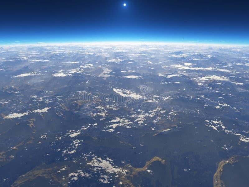 A terra do espaço ilustração stock