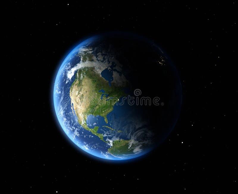 A terra do espaço ilustração do vetor