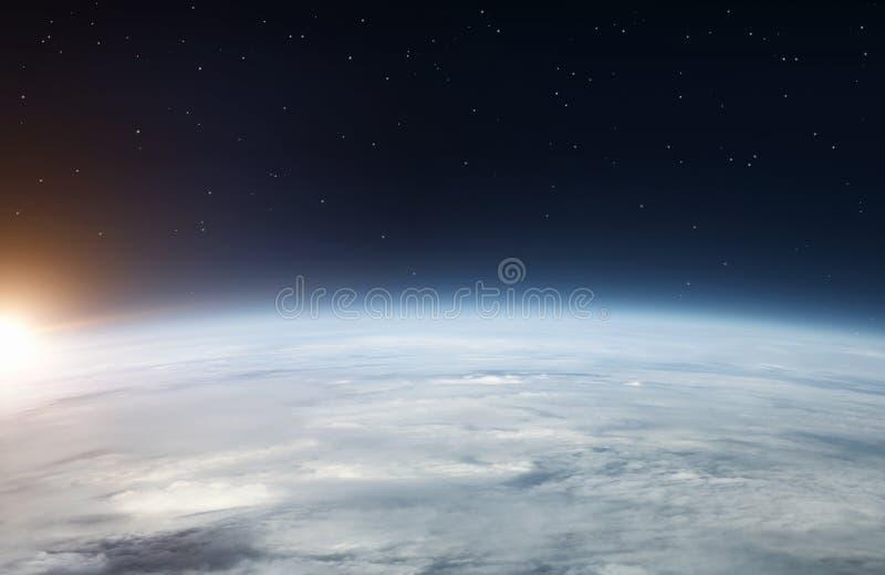Terra do espaço fotos de stock royalty free