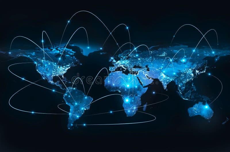 Terra do espaço O melhor conceito do Internet do negócio global da série dos conceitos Elementos desta imagem fornecidos perto
