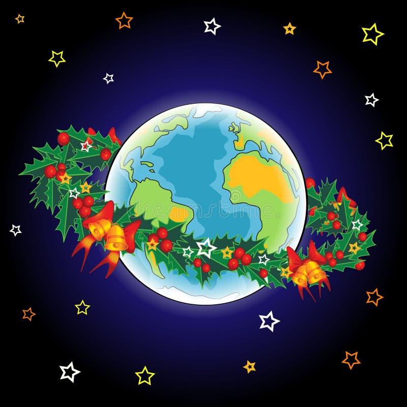 Terra do Natal ilustração do vetor