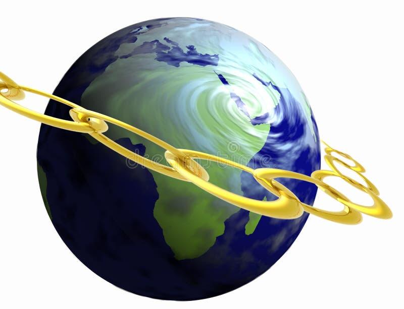 Terra do ouro ilustração stock