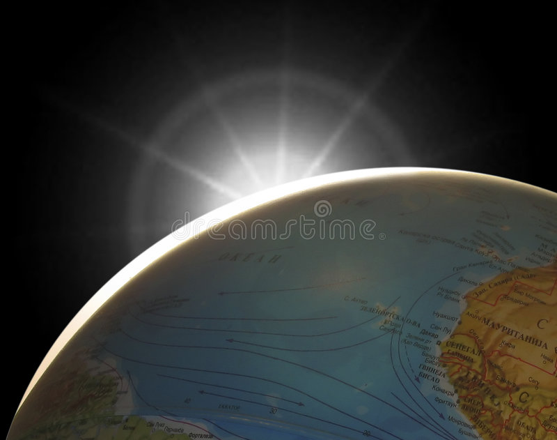 A terra do planeta ilustração do vetor
