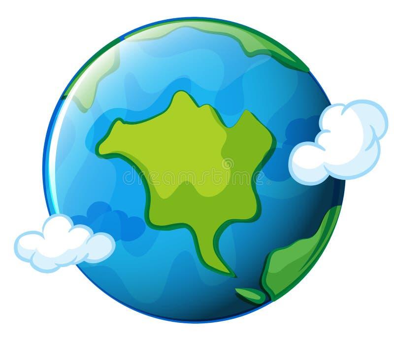 Terra do planeta ilustração stock