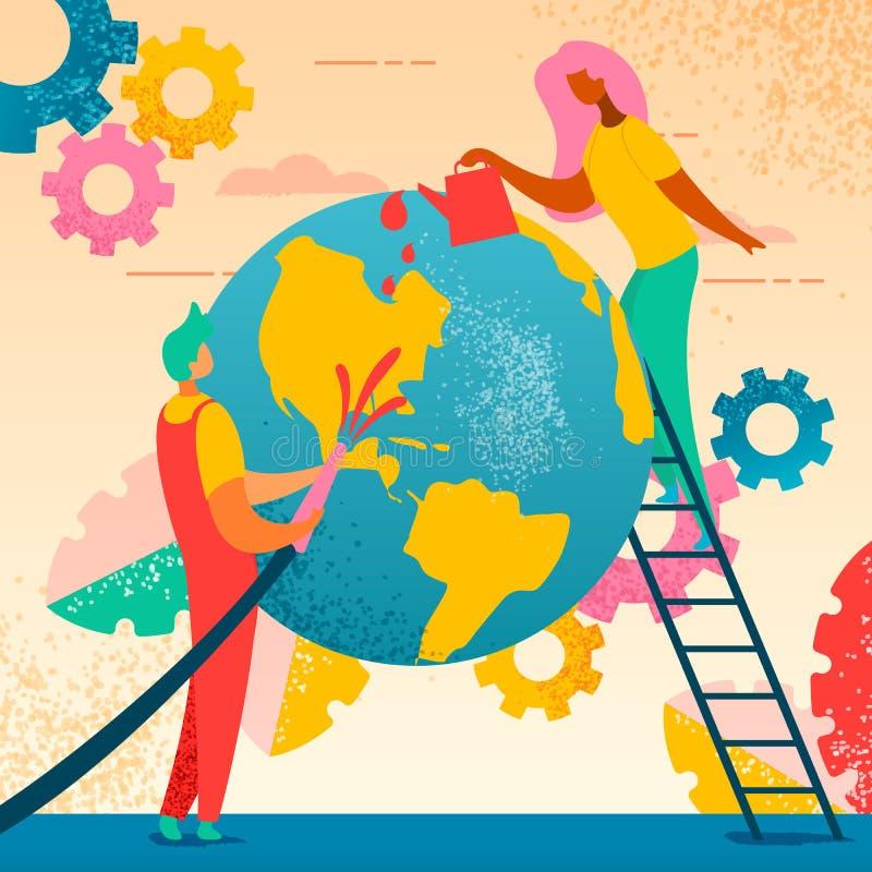 Terra 1 do planeta da economia ilustração do vetor