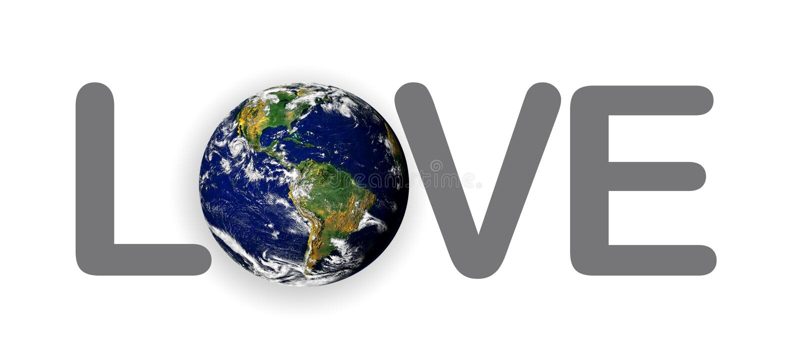 Terra do planeta do amor ilustração royalty free
