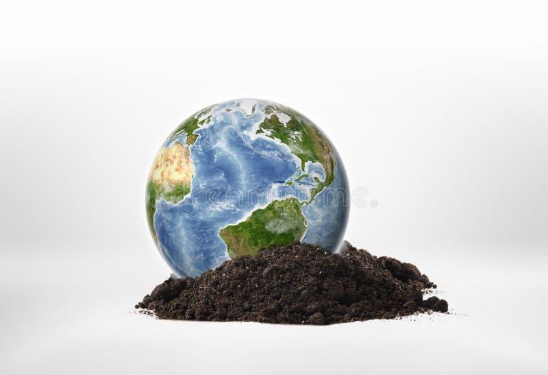 Terra do planeta do close-up em uma terra ilustração stock