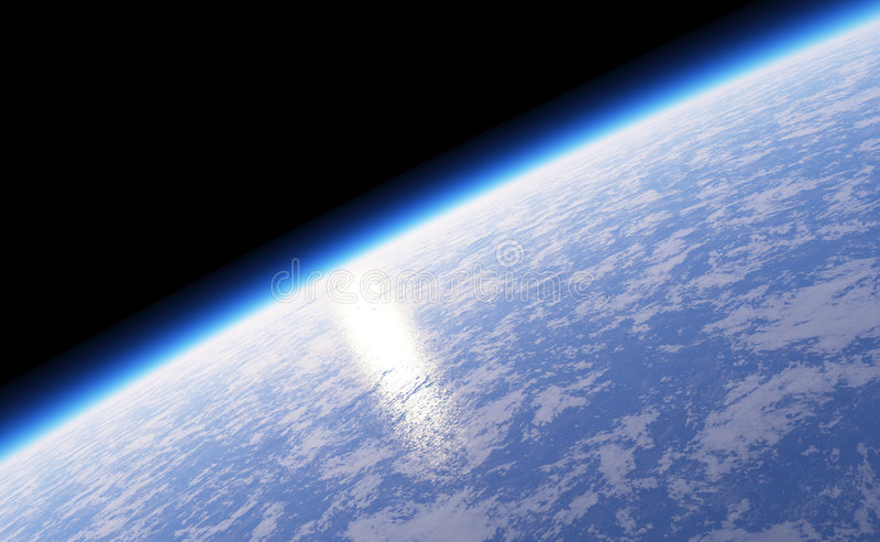 Terra do planeta do espaço ilustração do vetor