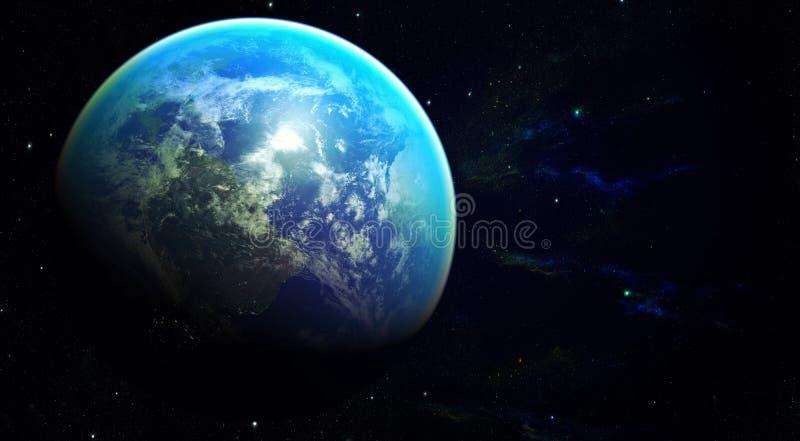 Terra do planeta do espaço imagens de stock royalty free