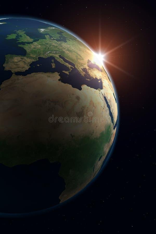 Terra do planeta - Europa ilustração stock