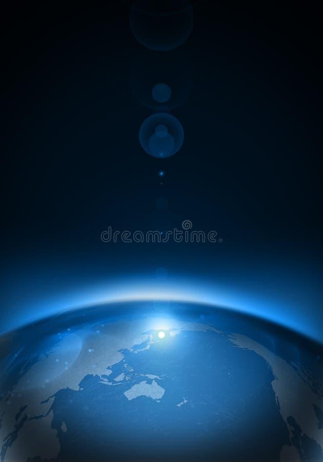 Terra do planeta no espaço ilustração royalty free