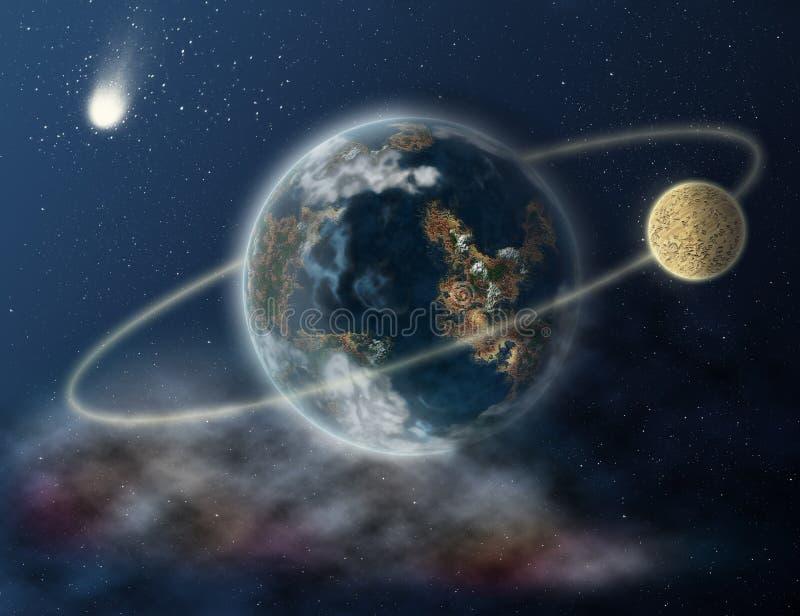 Terra do planeta no espaço ilustração do vetor