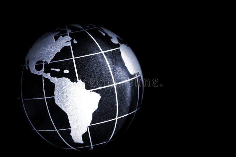 terra do planeta no preto imagem de stock royalty free
