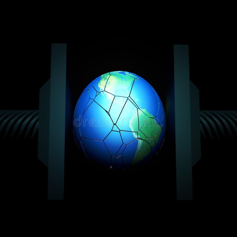 Terra do planeta no torno ilustração do vetor