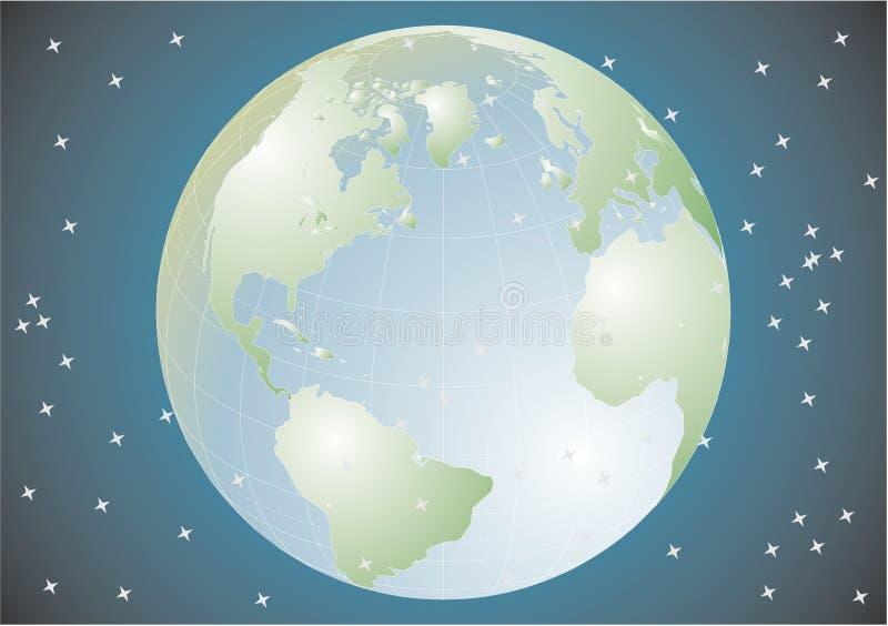 Terra do planeta no universo ilustração stock